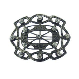 Antique Art Nouveau Rhinestone Brooch